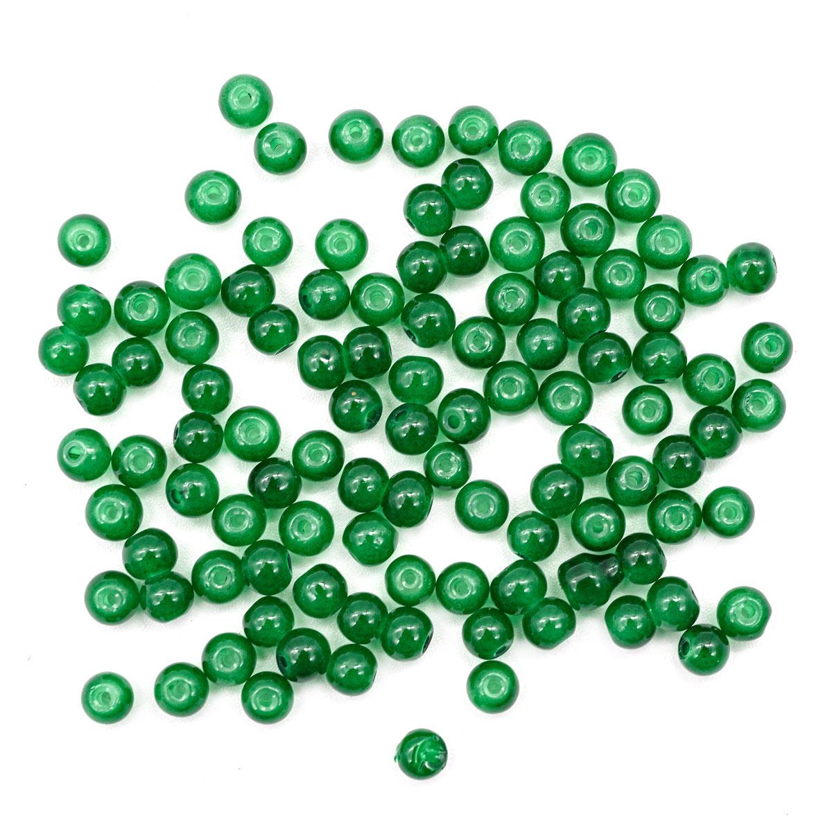 4AR349 Бусины стеклянные Candy 4мм, 100(+/5)шт/упак, Астра