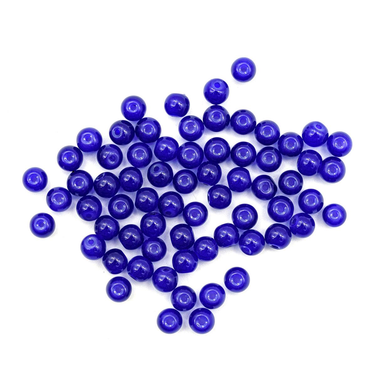 4AR350 Бусины стеклянные Candy 6мм, 65(+/-5)шт/упак, Астра