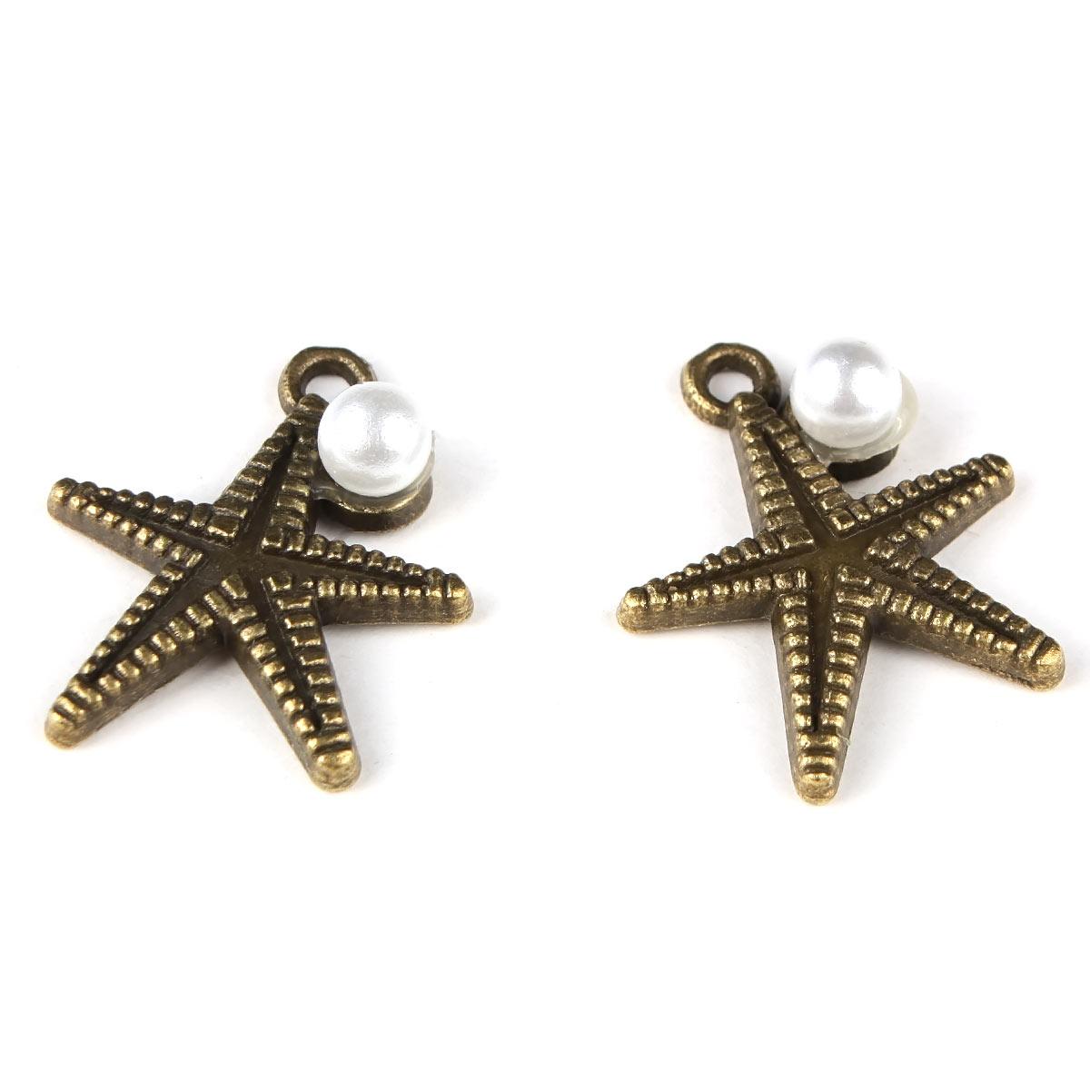 4AR038 Подвеска металлическая морская звезда