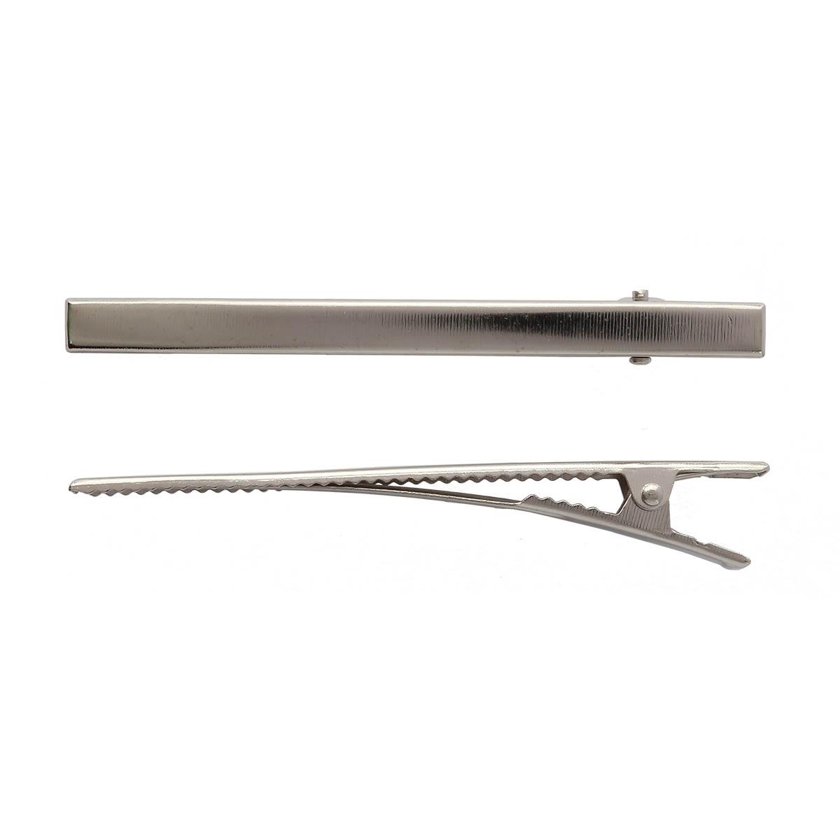 4AR086 Основа для заколки крокодил, 8,5см, 2 шт/упак, Астра