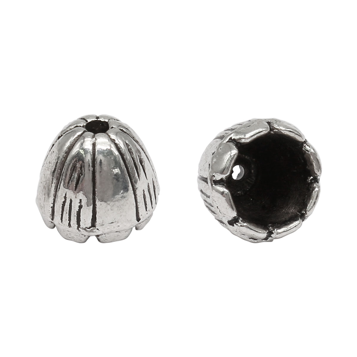 Шапочка для бусин 4AR269, 10мм, серебро, 10шт/упак, Астра