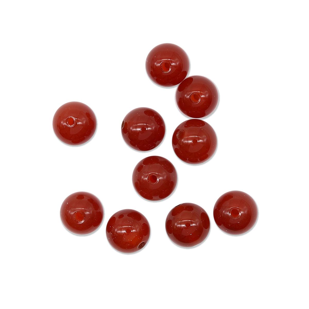4AR308 Бусины красный агат 10мм, 10шт/упак, Астра
