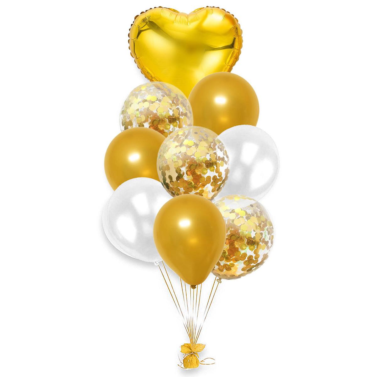 AR704 Набор воздушных шаров с пайетками 12см, 10шт/упак