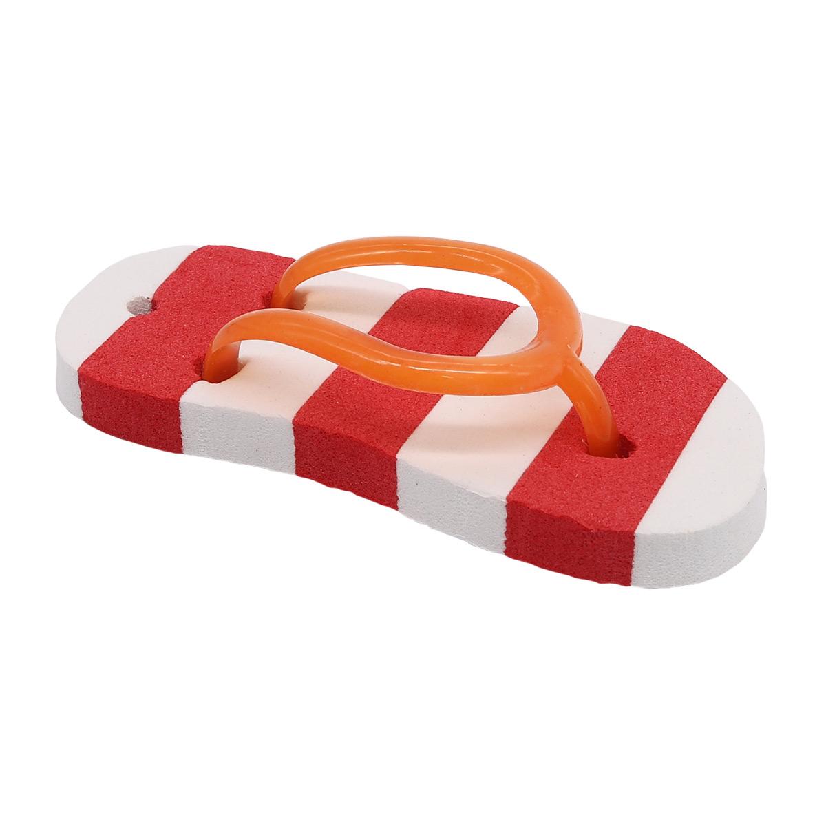AR1057 Сланцы полосатые для брелка 7*3,5см (красный)