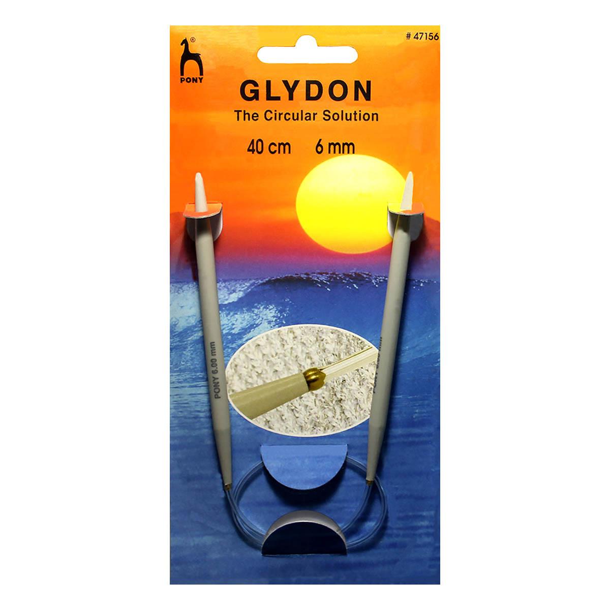 47156 PONY GLYDON Спицы круговые 6,00 мм/ 40 см, пластик, 2 шт