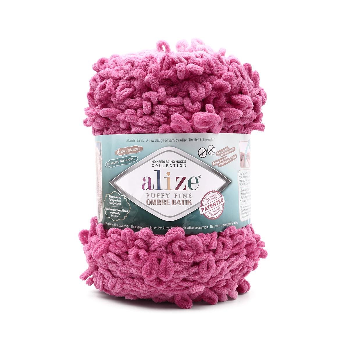 Пряжа Alize 'Puffy Fine Ombre Batik' 500гр. 73м. (100% микрополиэстер)