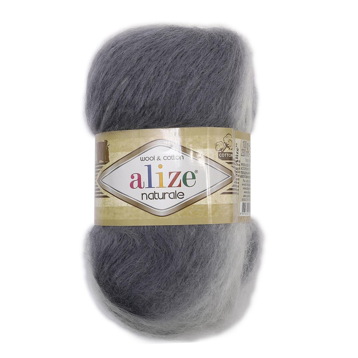 Пряжа ALIZE 'Naturale Batik' 100гр. 230м. (60% шерсть, 40% хлопок) ТУ