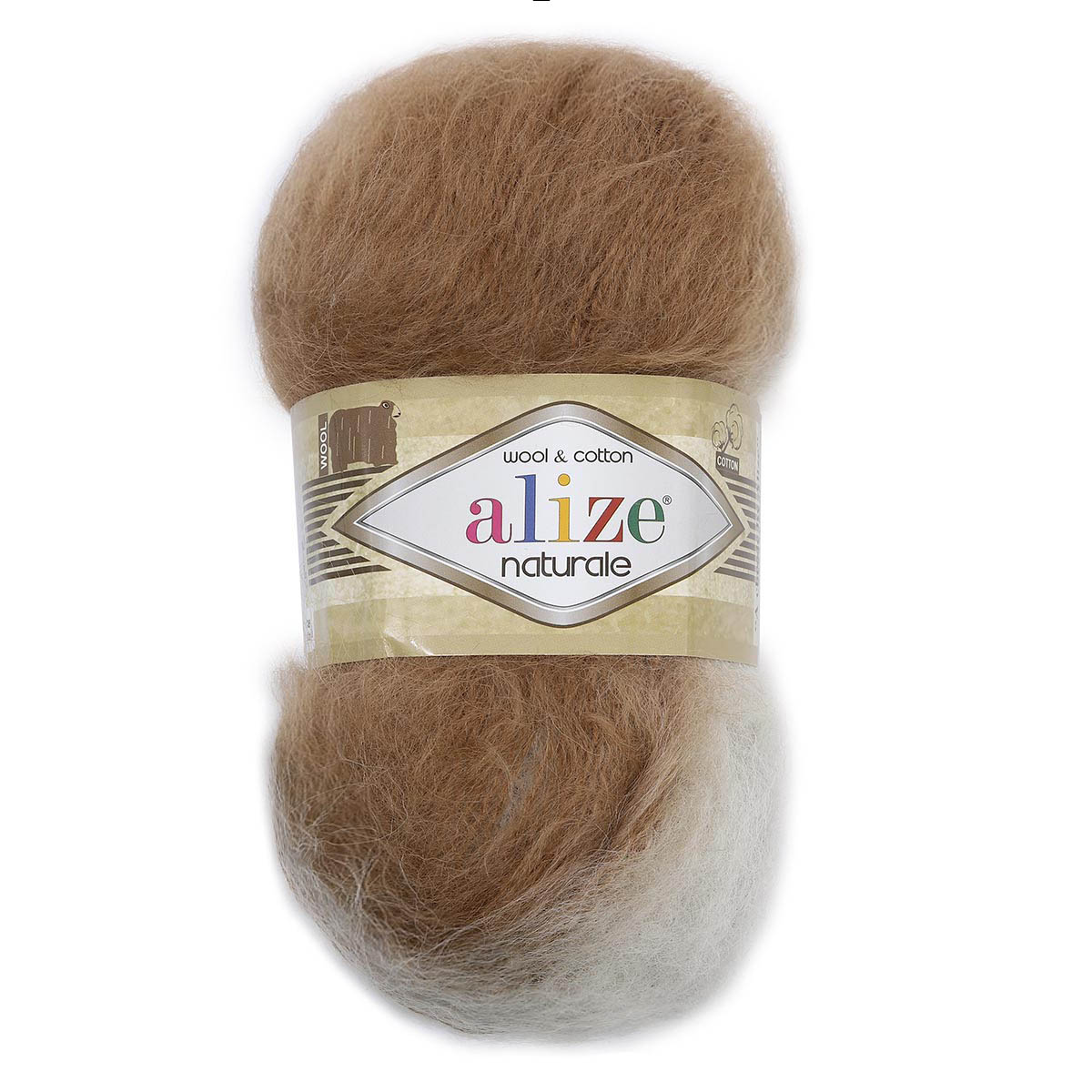 Пряжа ALIZE 'Naturale Batik' 100гр. 230м. (60% шерсть, 40% хлопок) ТУ (5916 секционный) фото