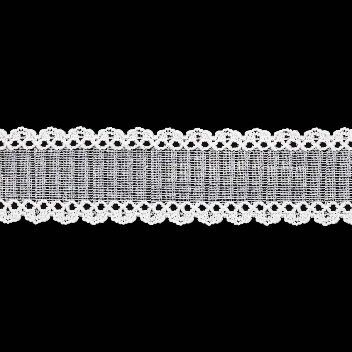 2.141Р Кружево эластичное 2,5см*10м (белый) фото