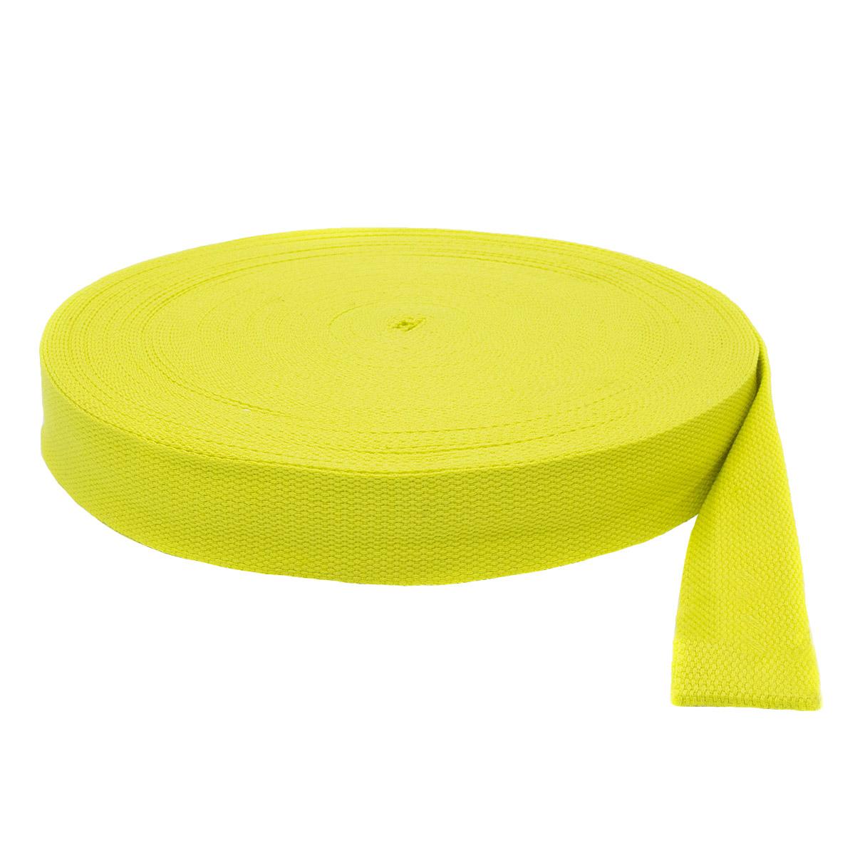 3AR1032 Лента ременная (30% х/б, 70% полиэстер) 3,8см*45,72м (B077 желтый) фото