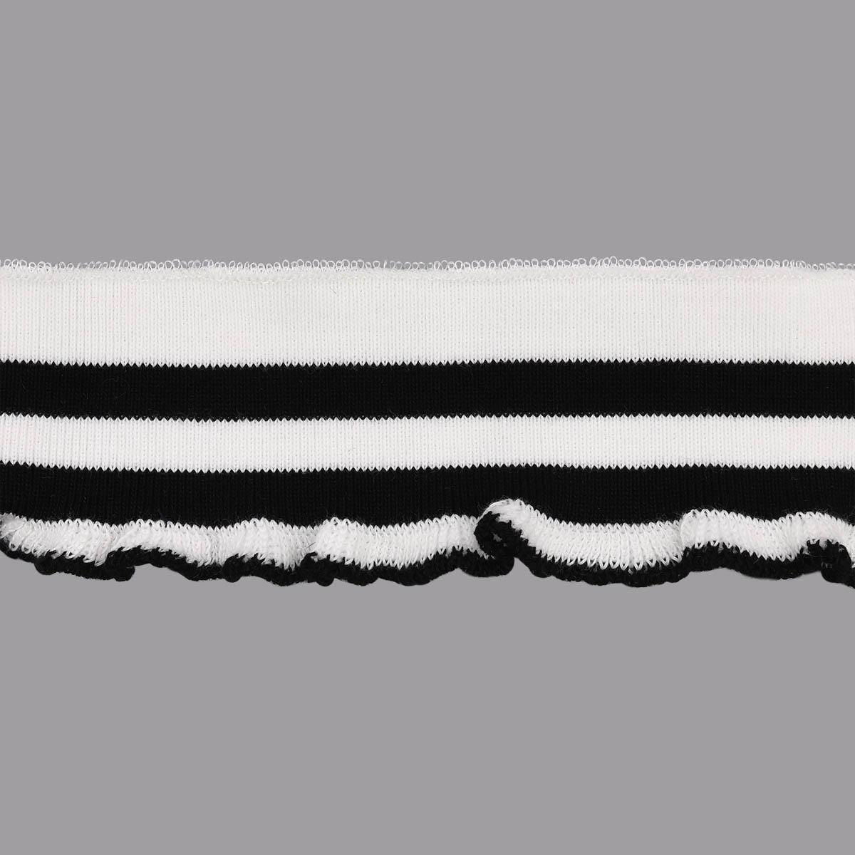 3AR1184 Подвяз трикотажный с рюшами (98% полиэстер, 2% спандекс) 5см*1м