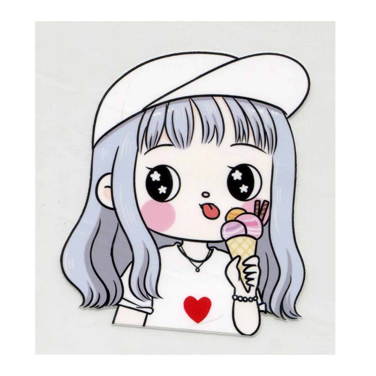 ALP-004 Термотрансфер 'Девочка с мороженым' 10*12CM