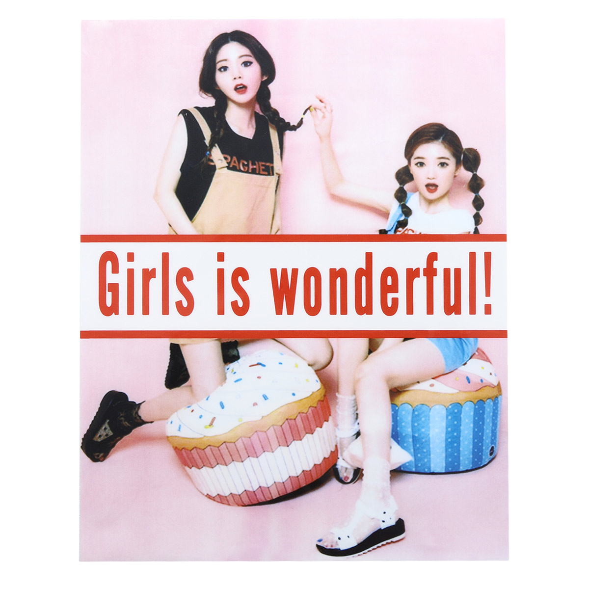 ALP-025 Термотрансфер 'Girls' 16*18см
