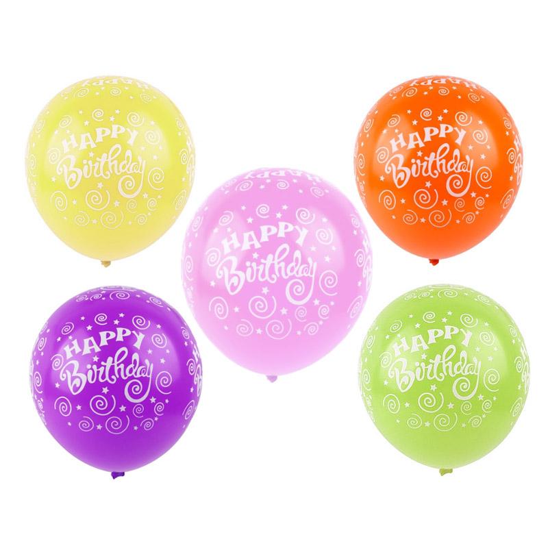 AR705 10 Воздушные шары 'Happy birthday' 10шт/упак