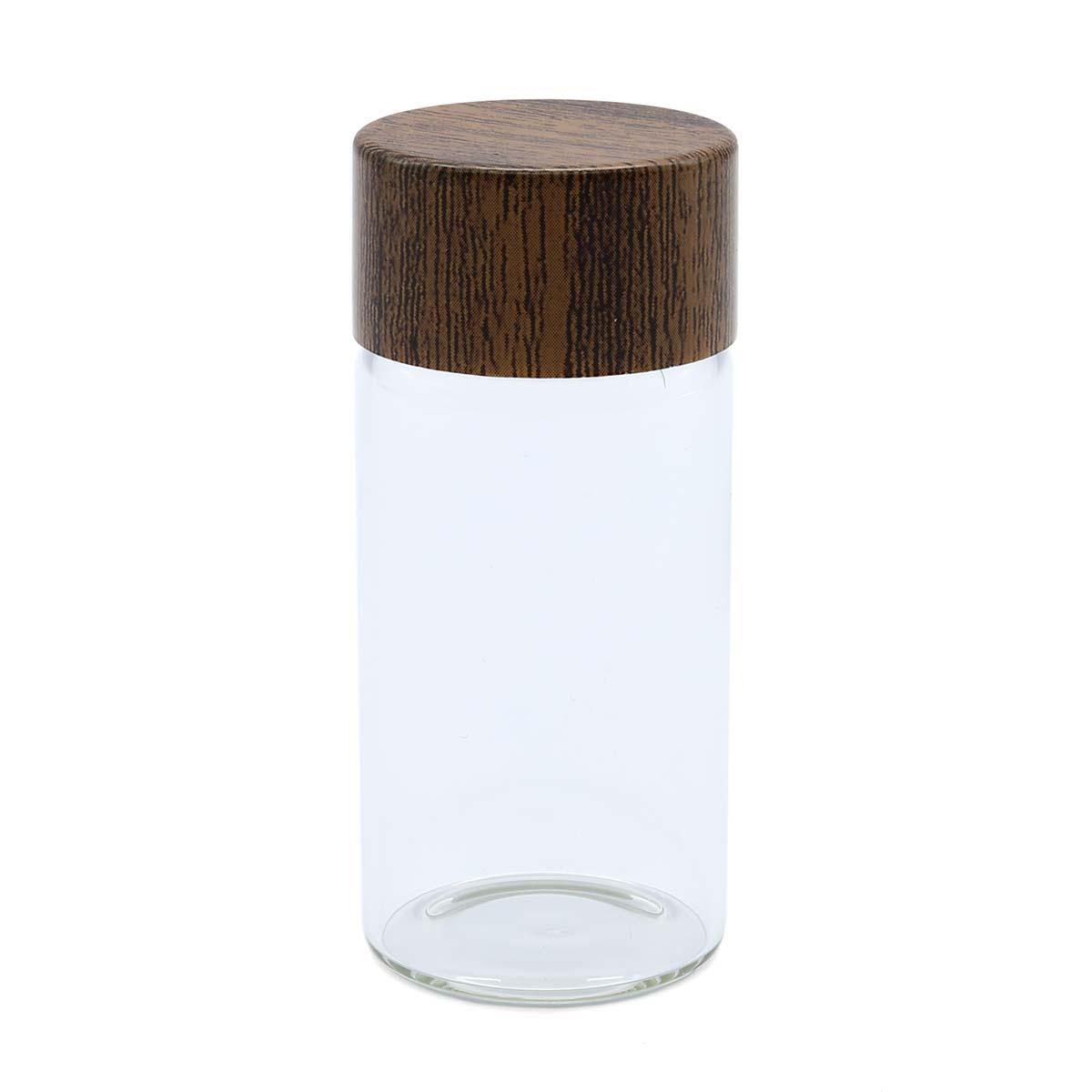 AR1328 Бутылочка стеклянная с деревянной крышечкой 2,8*3см, 2шт/упак