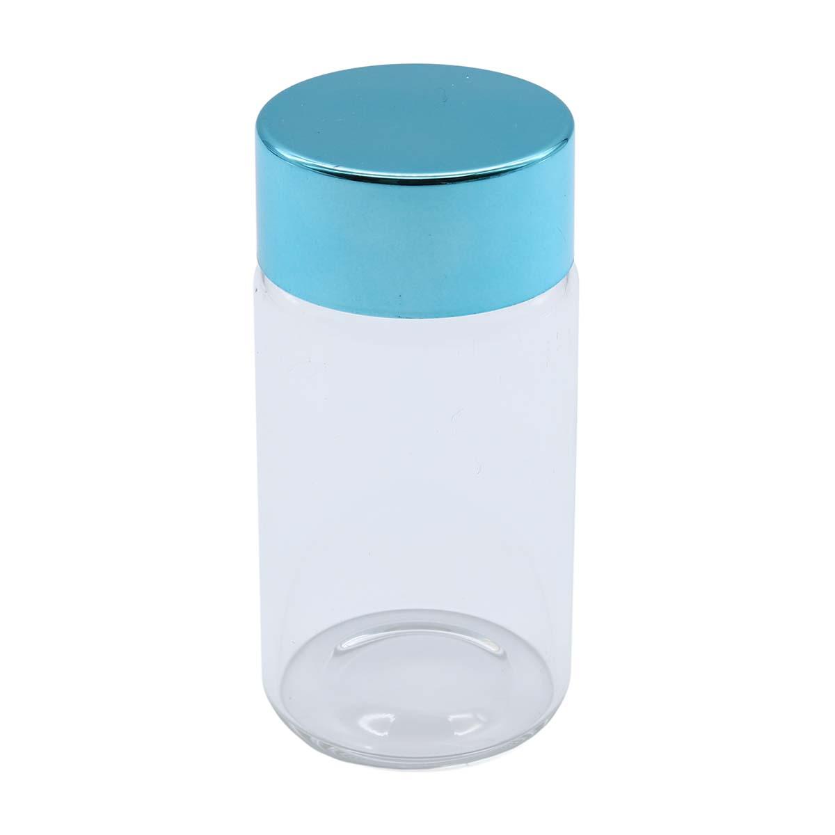 AR1336-5 Бутылочка стеклянная с цветной крышечкой 3,7*7см, 2шт/упак