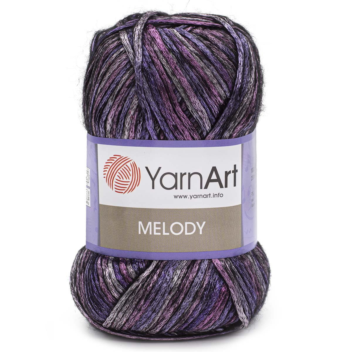 Пряжа YarnArt 'Melody' 100гр 230м (9% шерсть, 21% акрил, 70% полиамид)