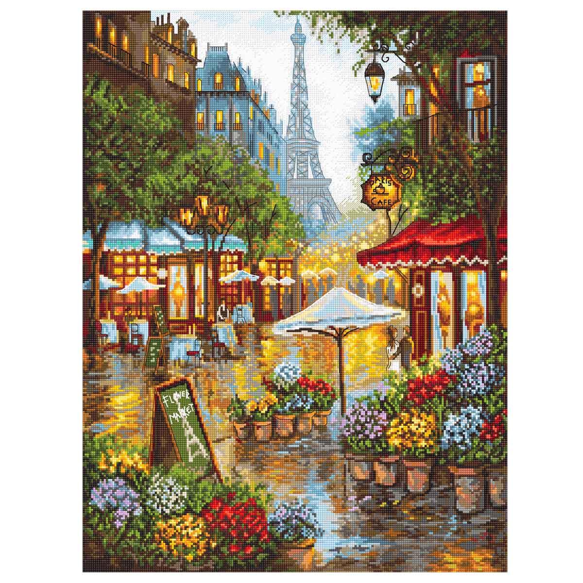 Leti923 Набор для вышивания LetiStitch 'Париж. Весенние цветы' 42*32см