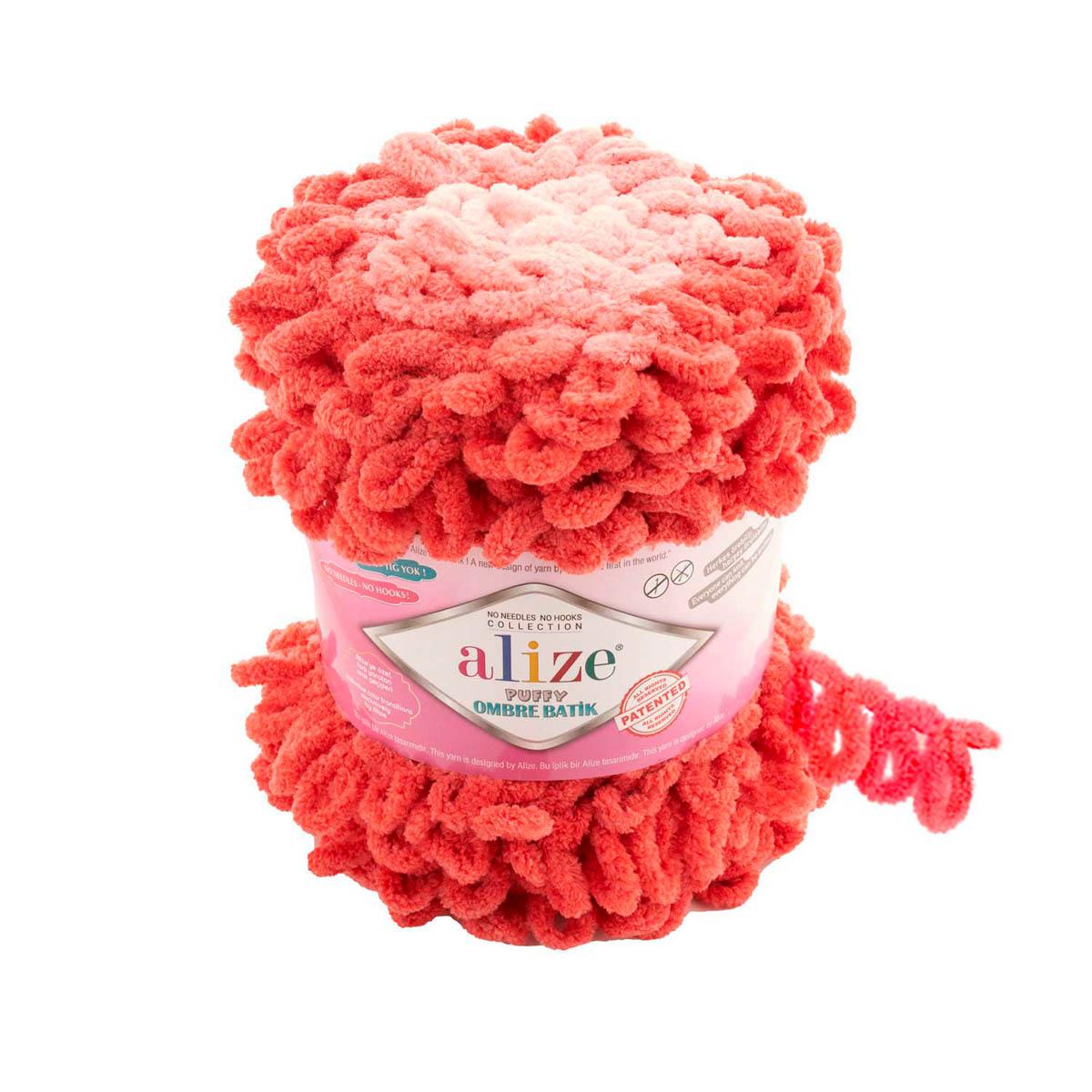 Пряжа Alize 'Puffy Ombre Batik' 600г 55м (100% микрополиэстер)