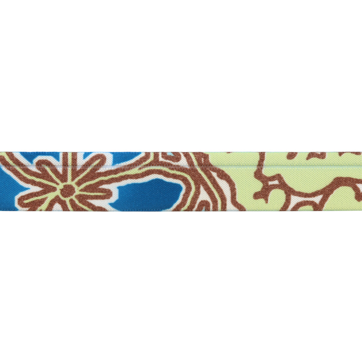 9402 Лента эластичная декоративная 2,0см*50м (голубой/желтый)
