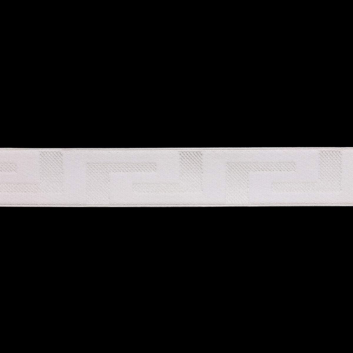 2898 Лента эластичная декоративная 2,8см*25м (белый)