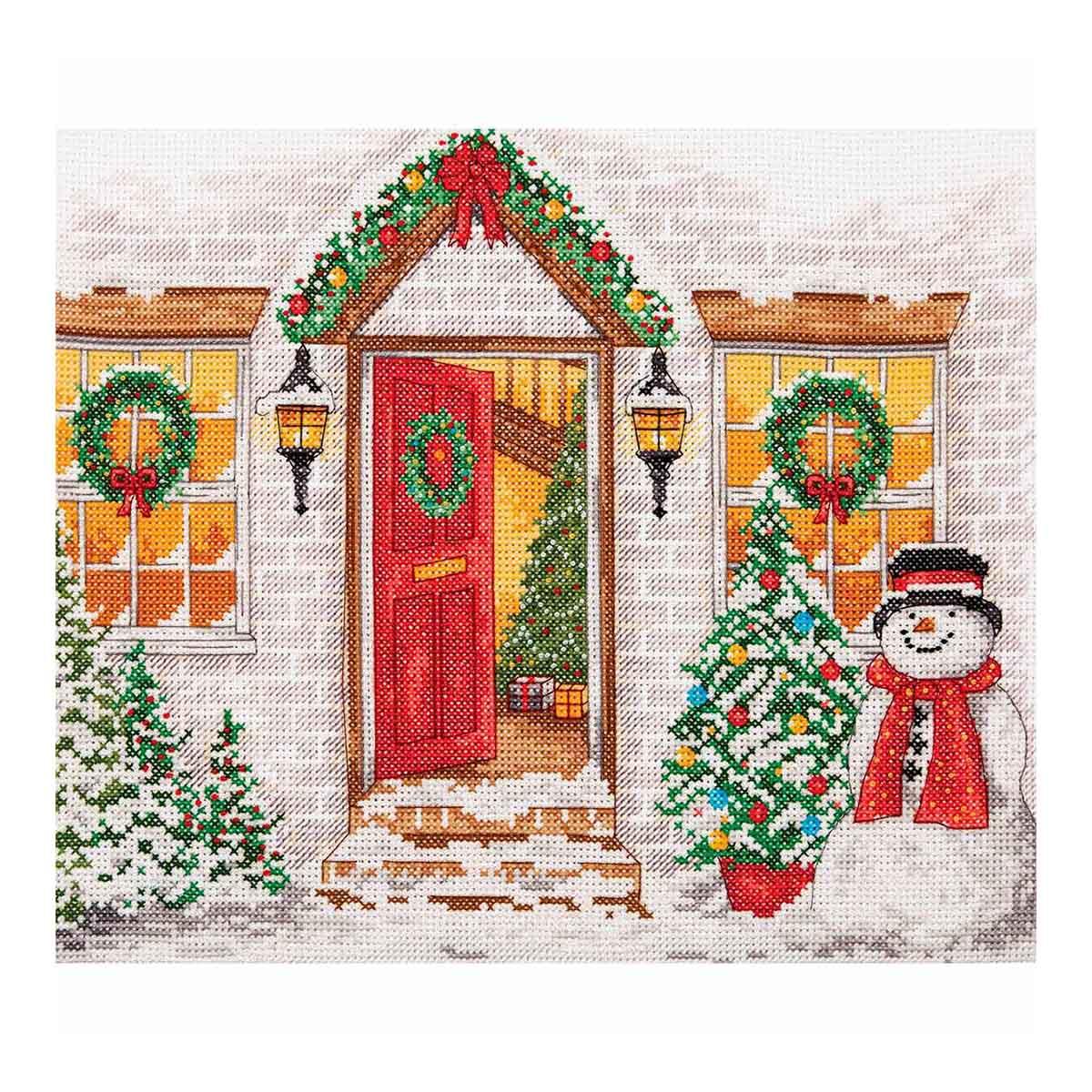 PCE968 Набор для вышивания Anchor 'Рождественский прием' 27*22см