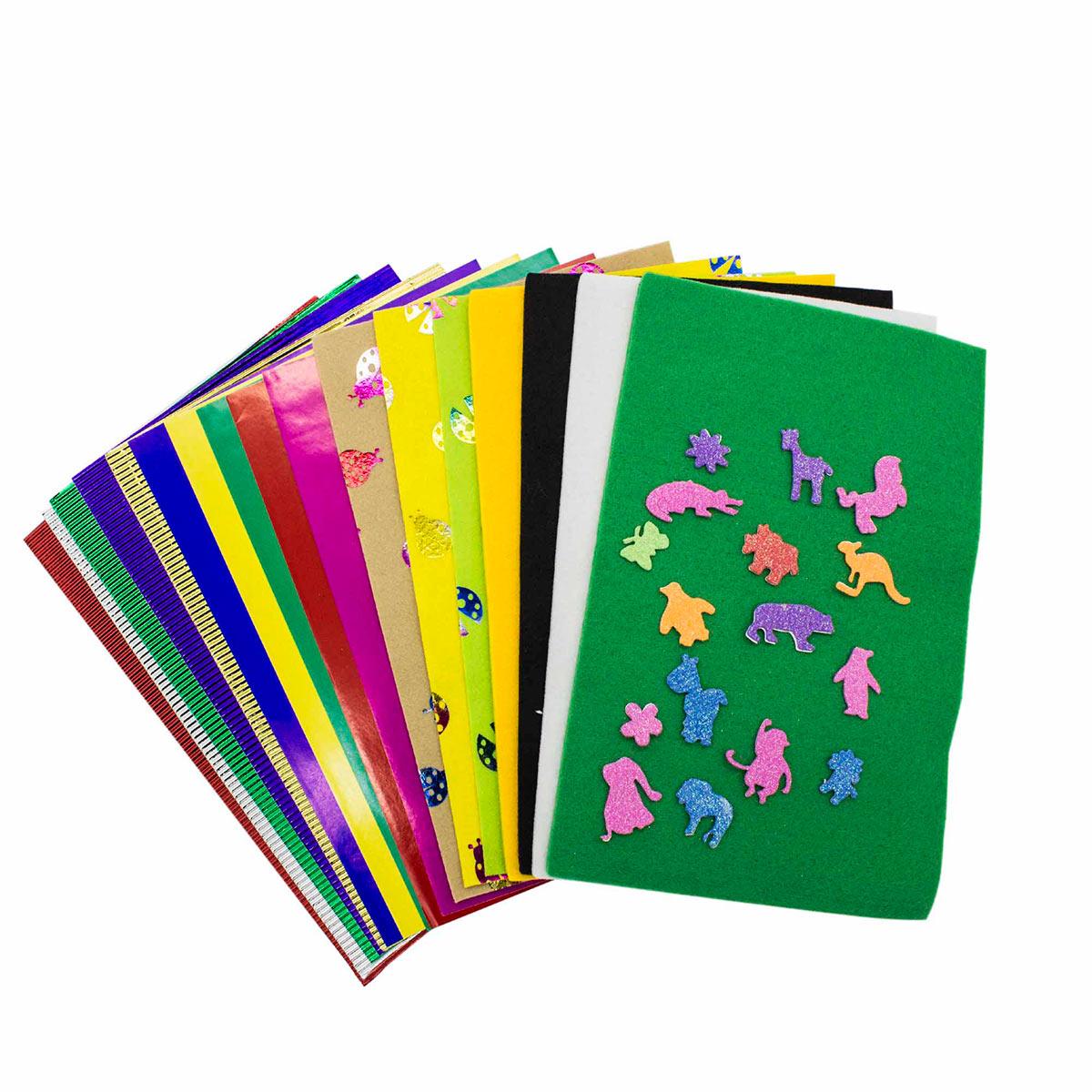 Набор для творчества с фетром, бумагой и наклейками
