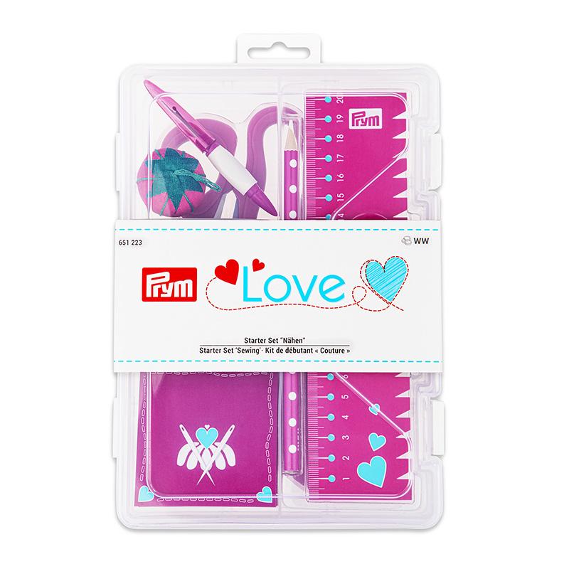 651223 Базовый набор 'Шитье', Prym Love ярко-розовый Prym
