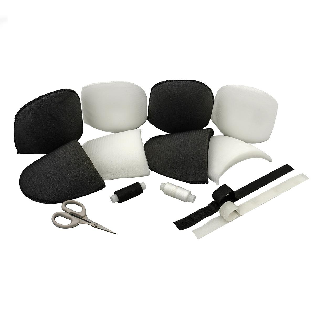 Набор плечевых накладок с контактной лентой, нитками и ножницами