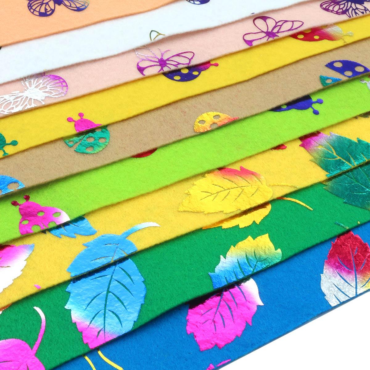 Ассорти из фетра с декоративным принтом 'Природа' 9 листов 20х30см, 1,0мм, 180 гр. Astra&Craft