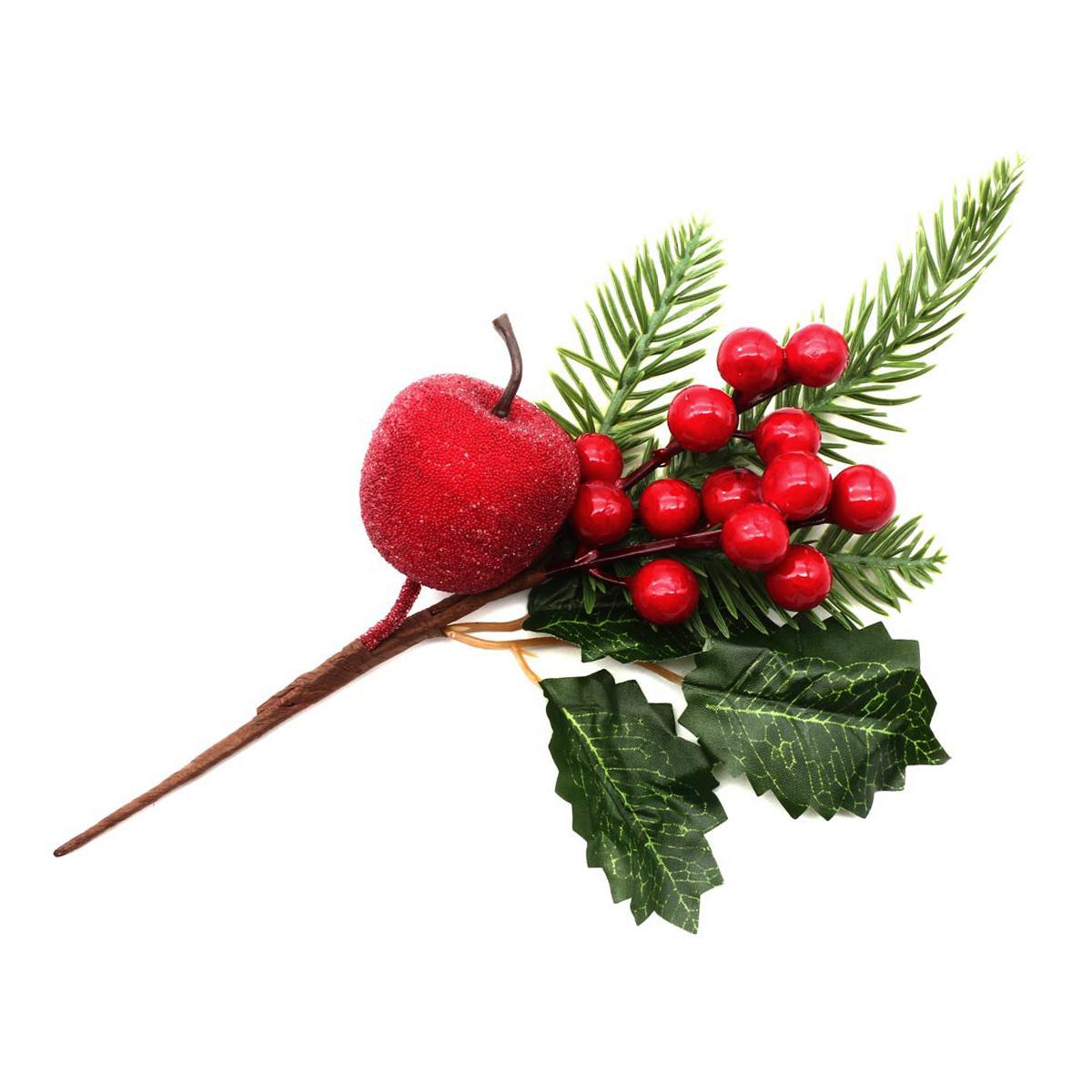 XY19-257 Ветка с красными ягодами, 16см