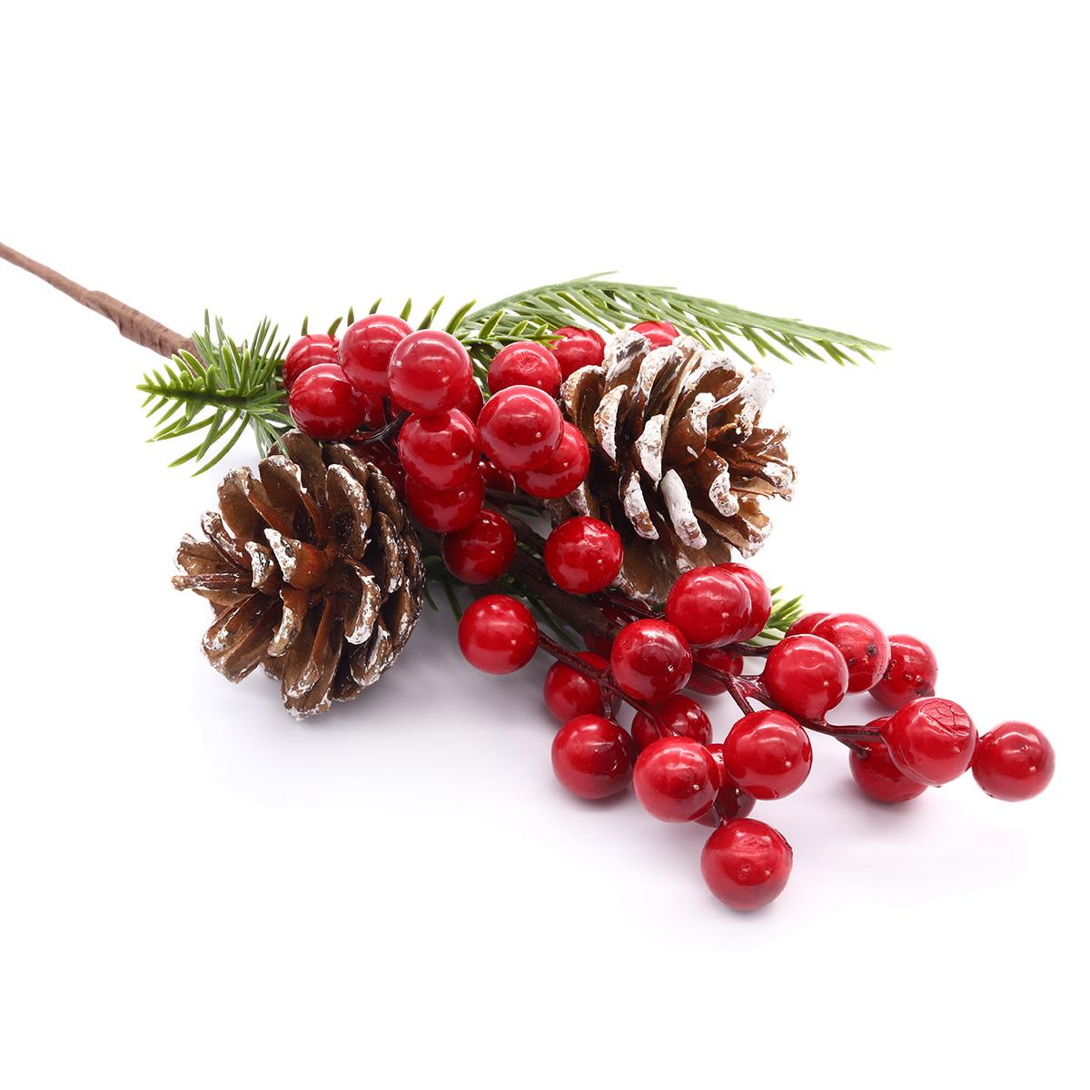 XY19-259 Ветка с красными ягодами, 32см