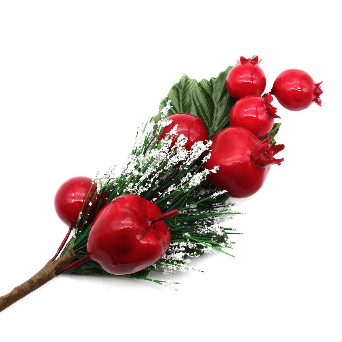 XY19-292 Ветка сосноваяс ягодами, 28см