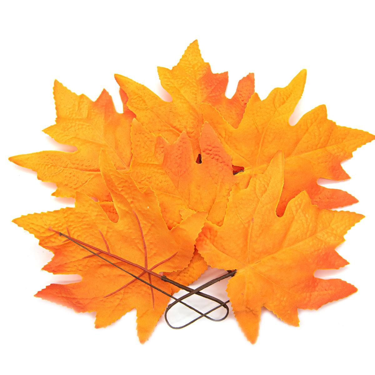 XY19 1140 Кленовые листья, 6шт (2 Оранжево