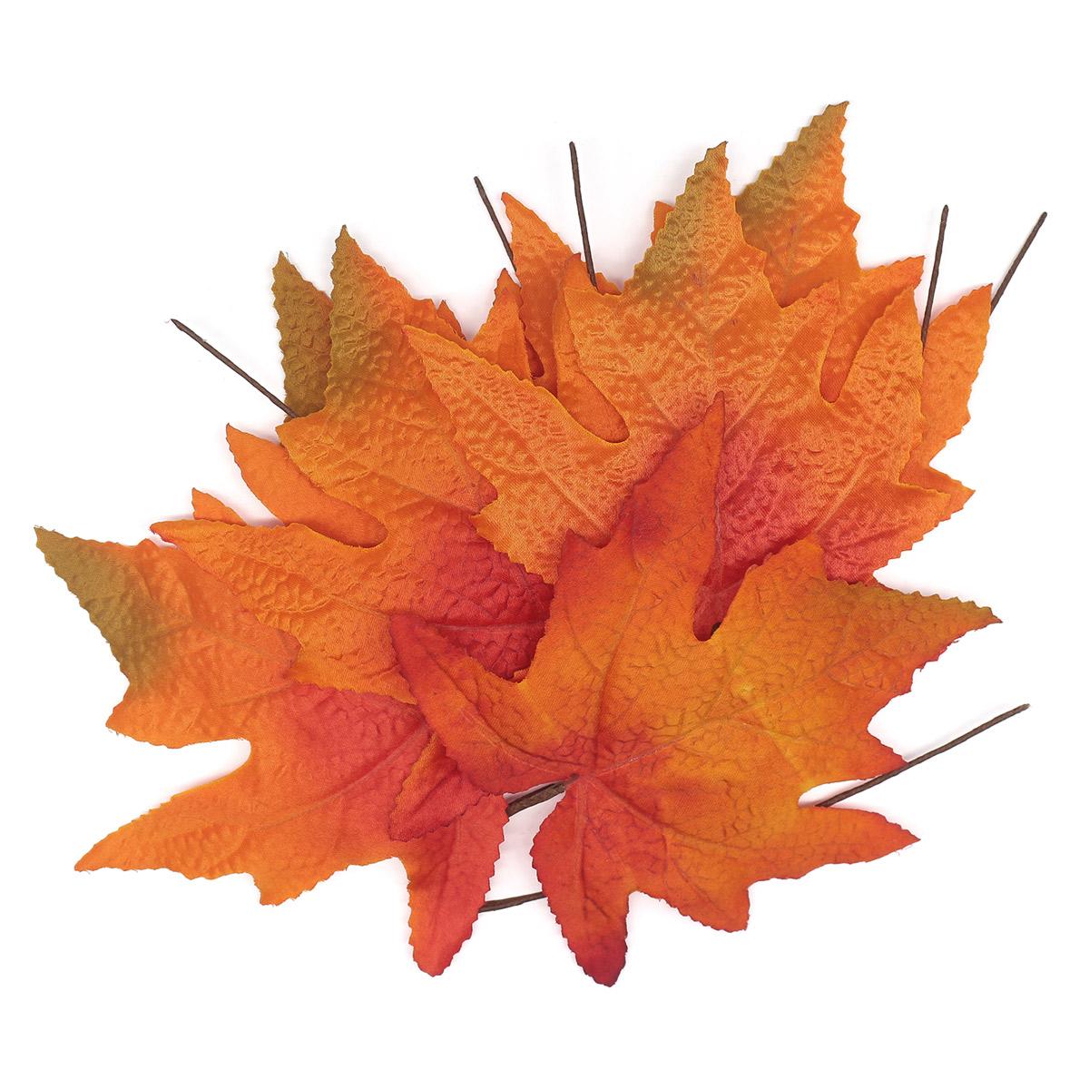 XY19 1140 Кленовые листья, 6шт (4 Оранжевые)