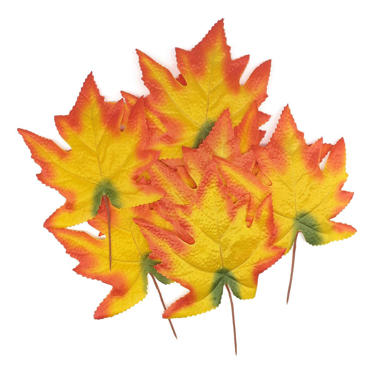 XY19 1141 Кленовые листья, 9шт (3 Желтый