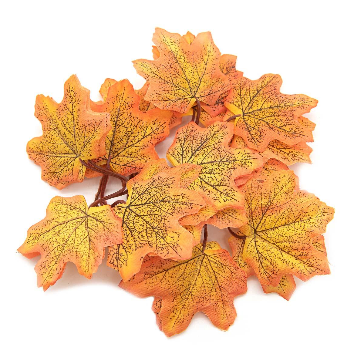 XY19 1147 Кленовые листья, 12шт (1 Оранжево