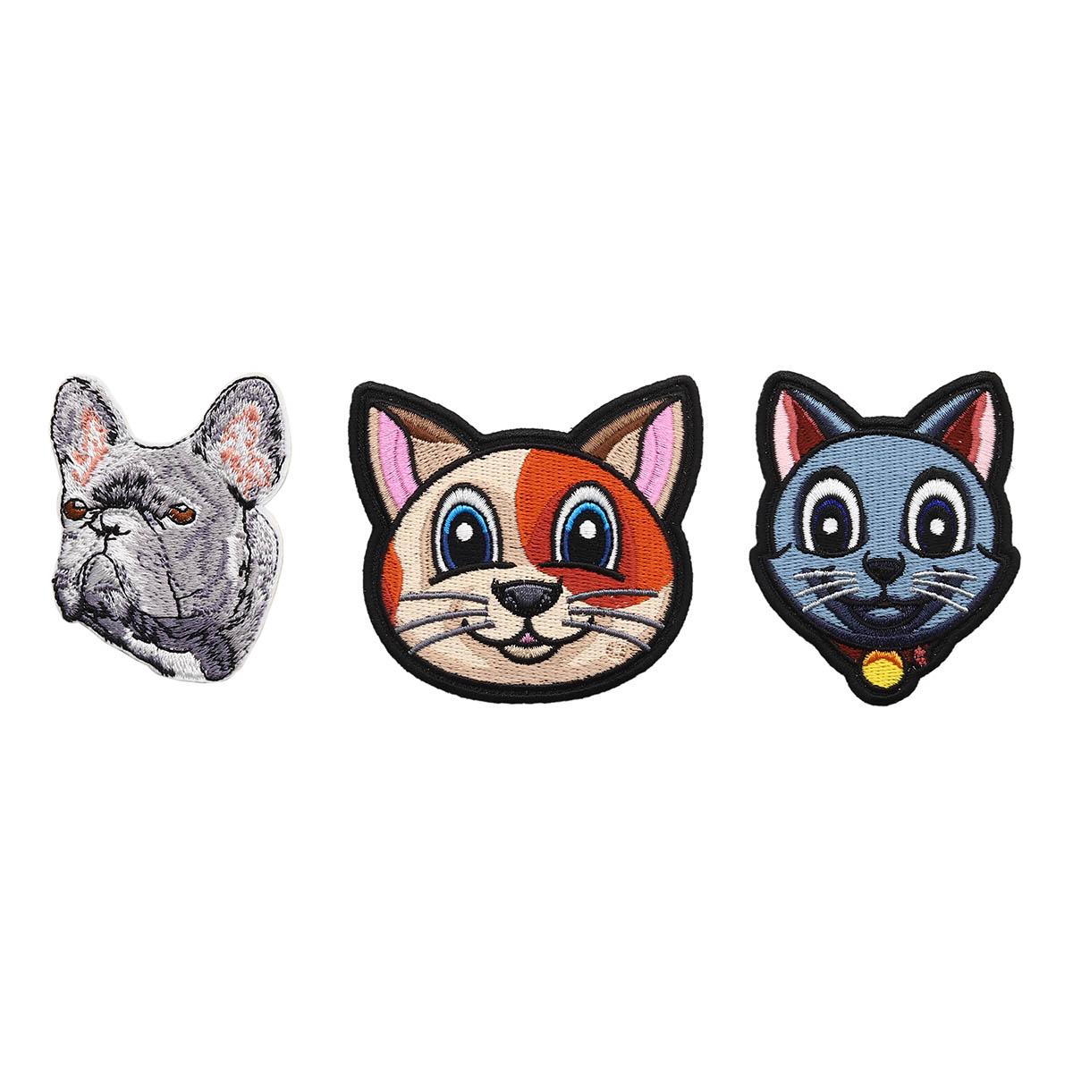 Набор термоаппликаций Домашние животные, упак(3шт), Hobby&Pro