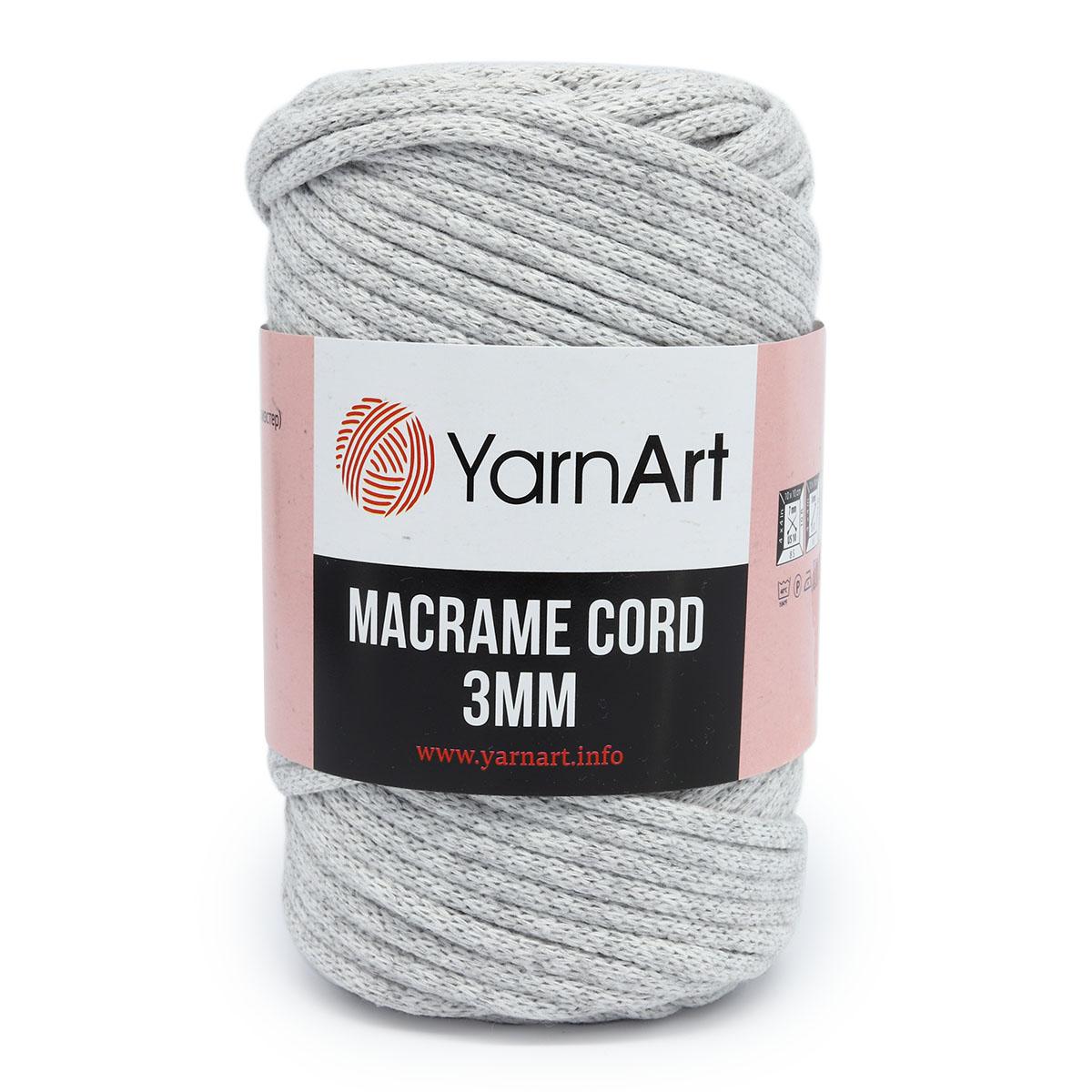 Пряжа YarnArt 'Macrame Cord 3мм' 250гр 85м (60% хлопок, 40% вискоза и полиэстер)