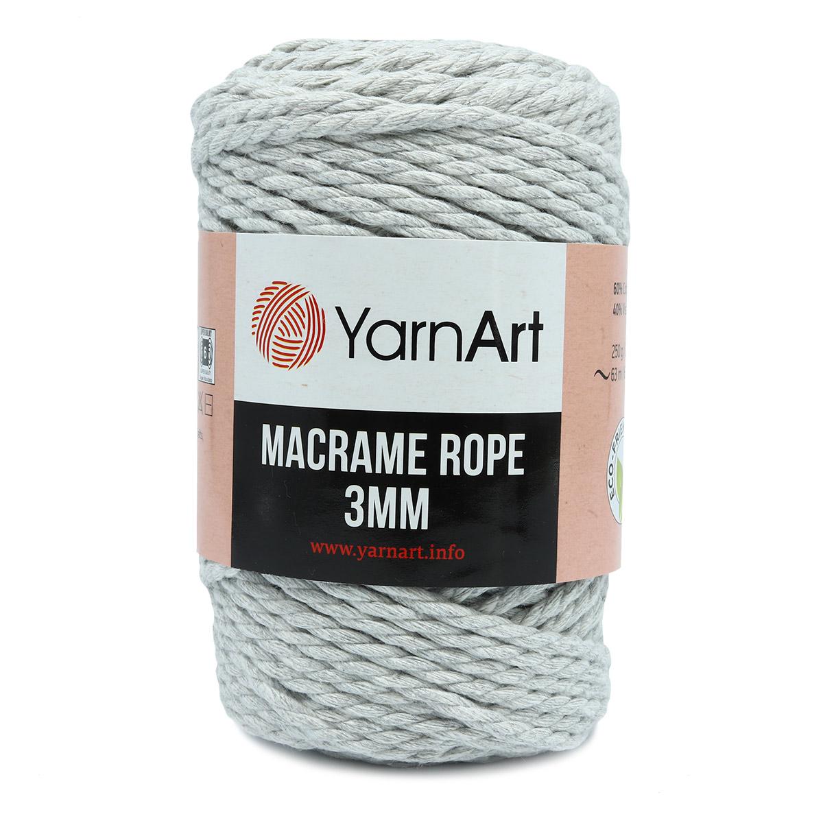 Пряжа YarnArt 'Macrame Rope 3мм' 250гр 63м (60% хлопок, 40% вискоза и полиэстер)