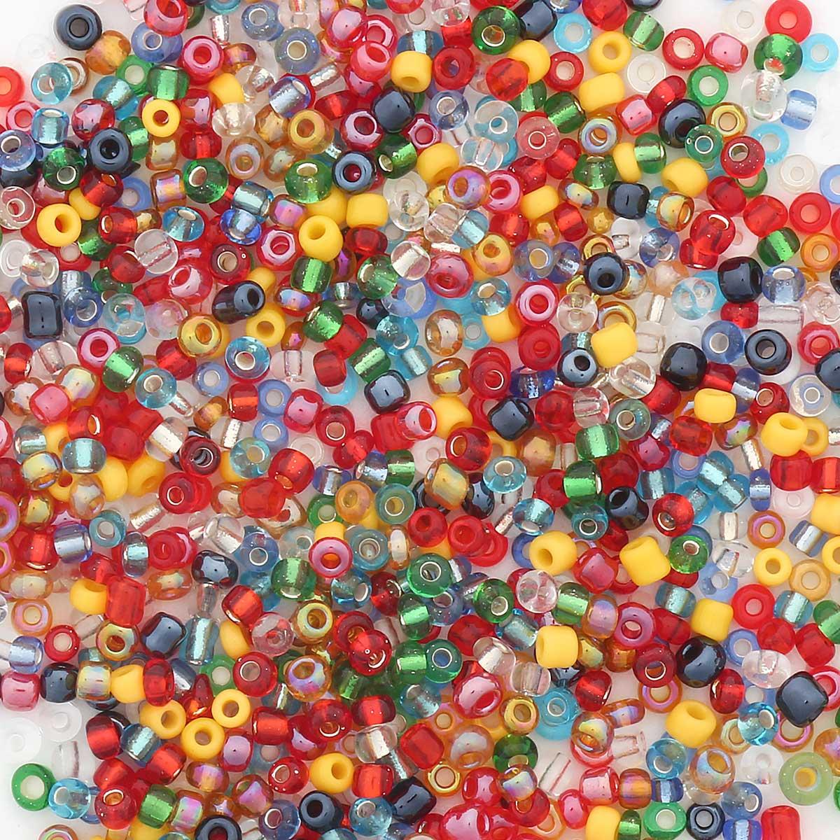 Бисер разноцветный 11/0, 700г, Астра
