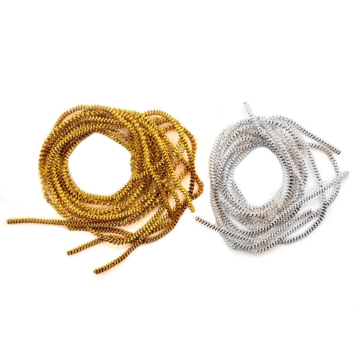 Набор декоративной проволоки-трунцала, 3мм, цвета золото и серебро, 3,5м, Glorex