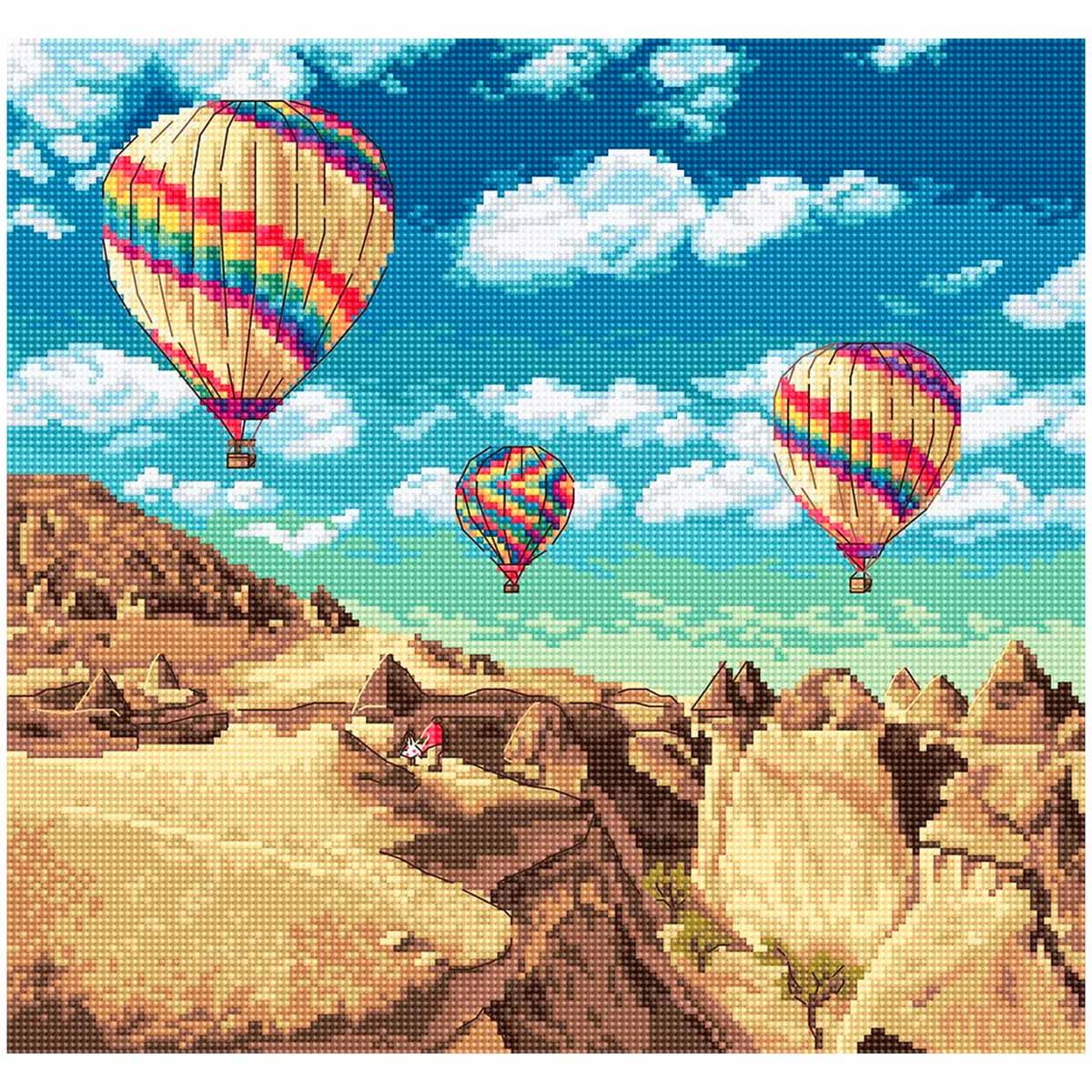 Leti961 Набор для вышивания LetiStitch 'Воздушные шары над Гранд-Каньоном' 23,5*25см