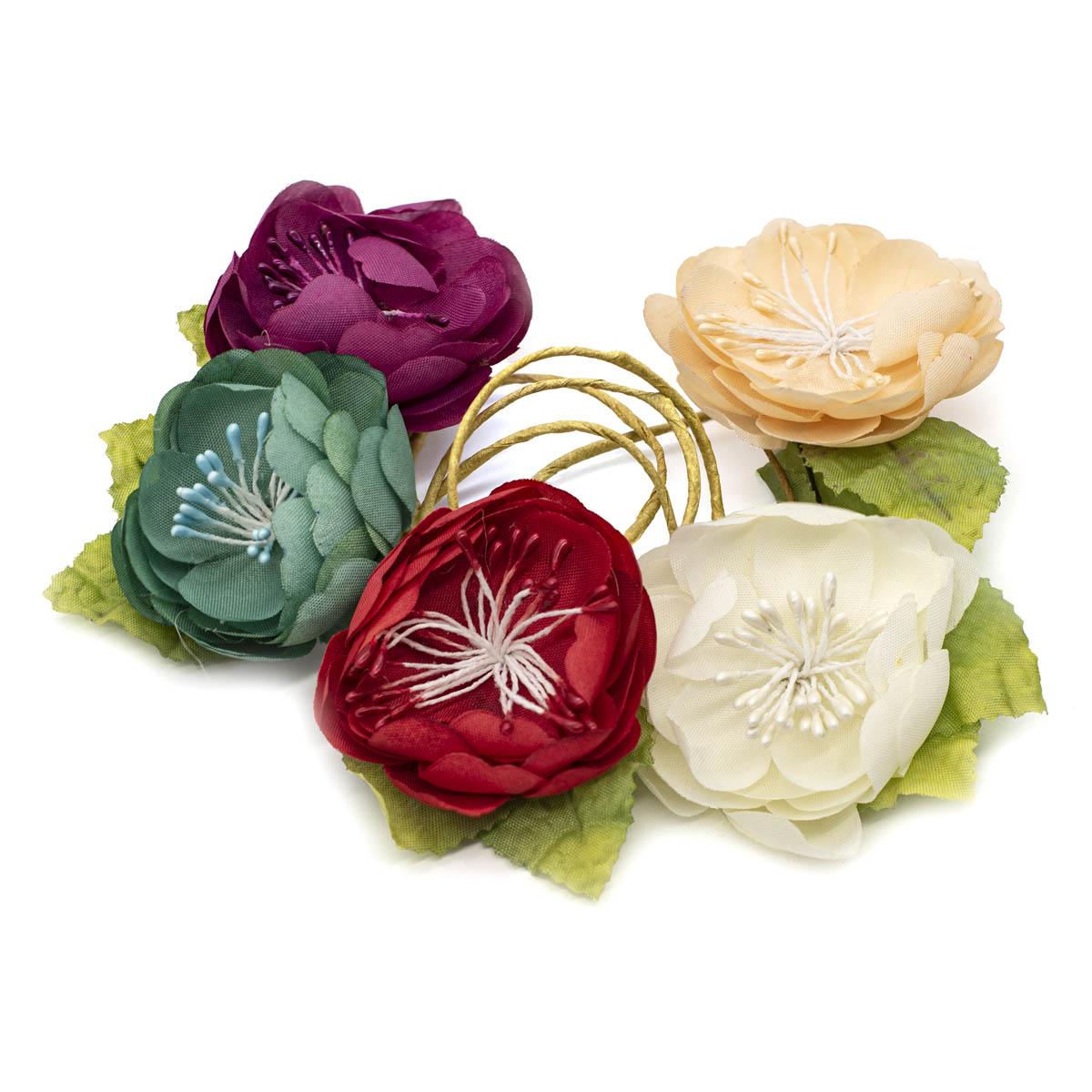Набор декоративных цветов 'Ассорти 1' D=4,5*2,3см, 20шт, Астра