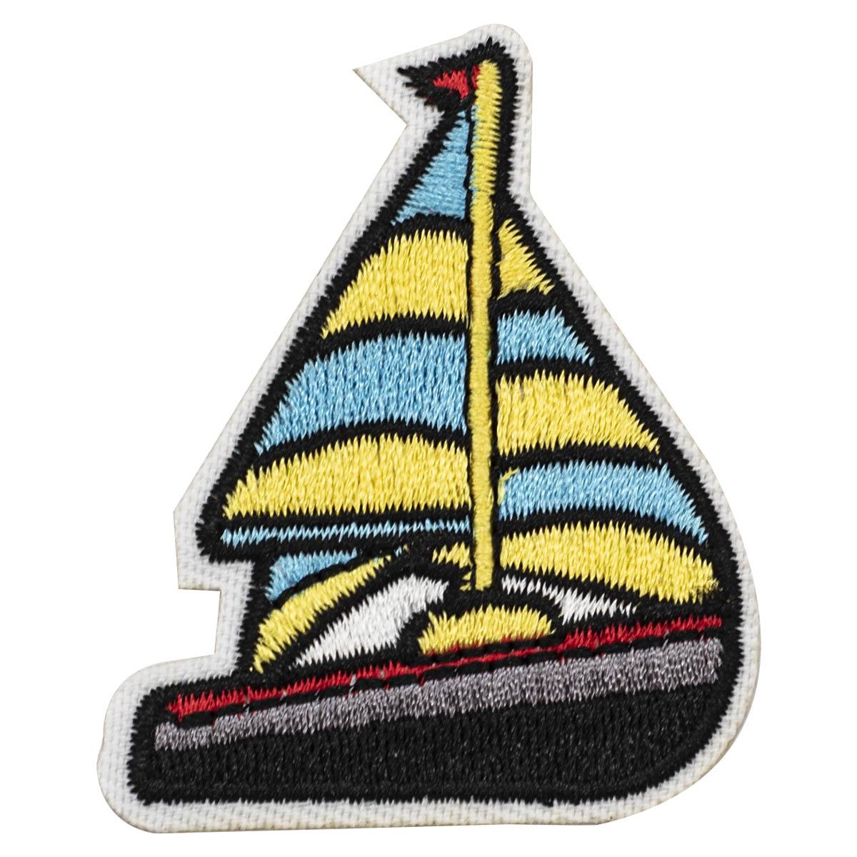 Термоаппликация 'Парусная лодка 2', 4.7*5.8см