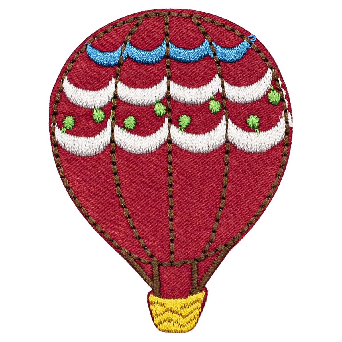 Термоаппликация 'Красный воздушный шар', 4.0*5.5см