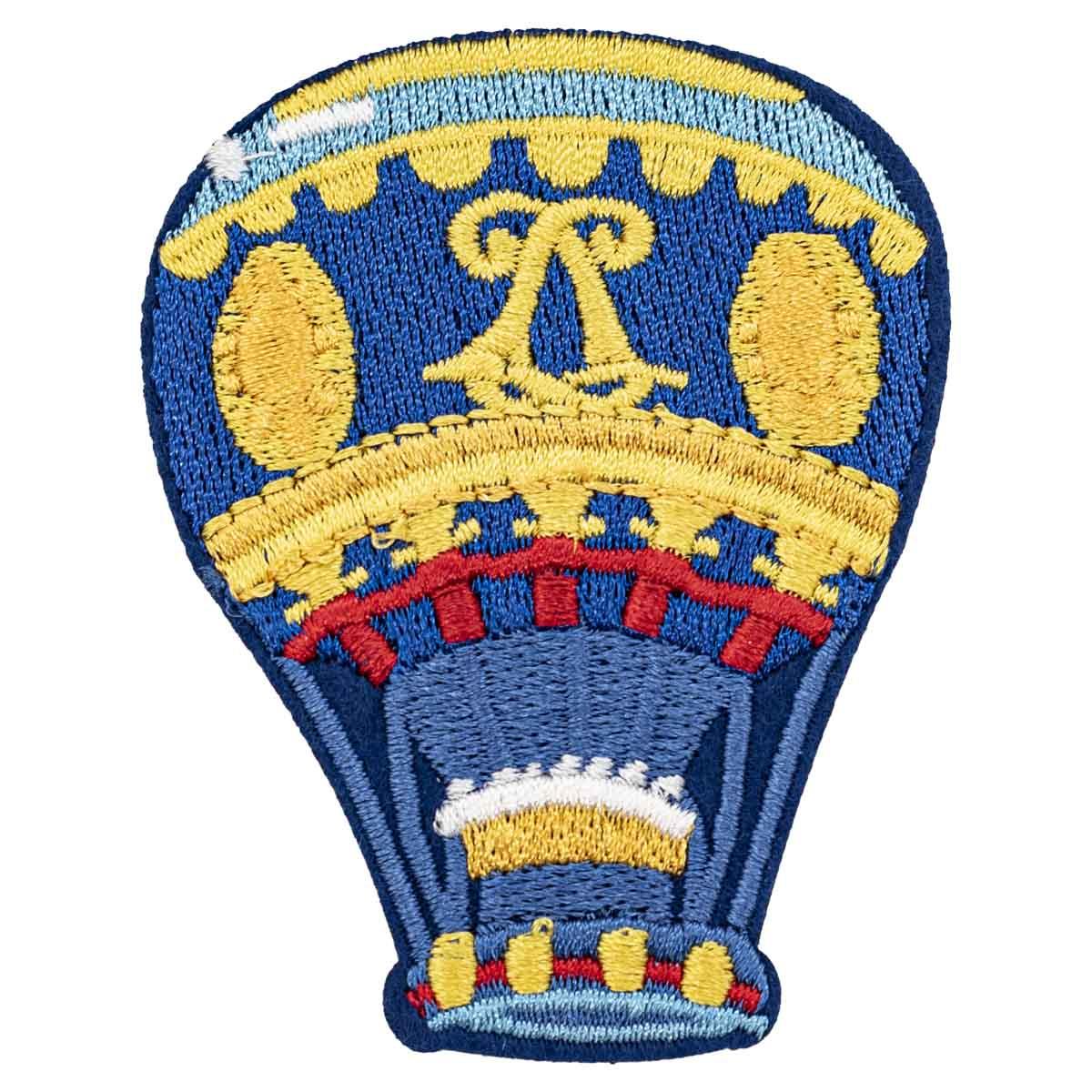 Термоаппликация 'Синий воздушный шар', 5.5*7.0см
