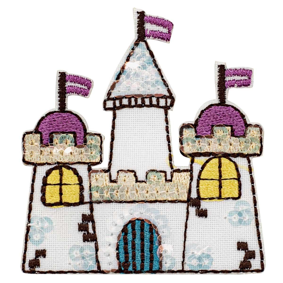 Термоаппликация 'Замок принцессы', 5.5*6.0см