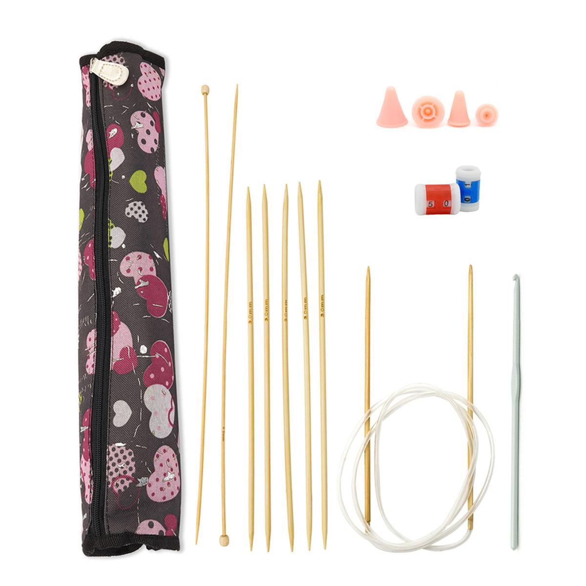 Набор для вязания, 7 предметов, бамбук, Hobby&Pro