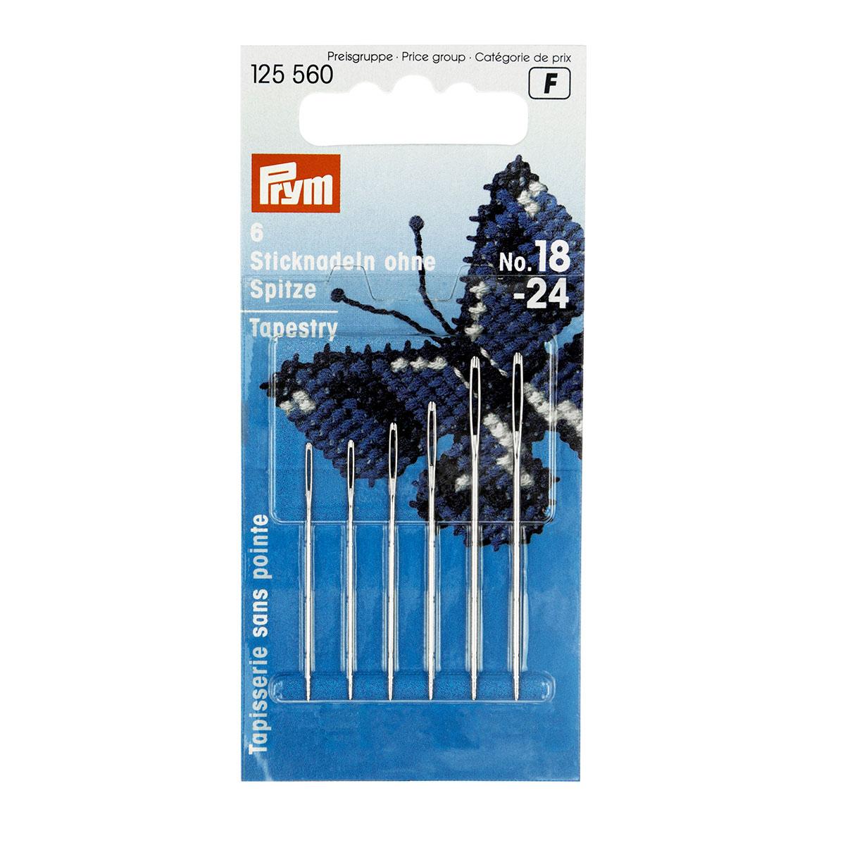 Набор 125560 Иглы для вышивки со скругленным острием №18/24 (сталь), 3 упак, Prym